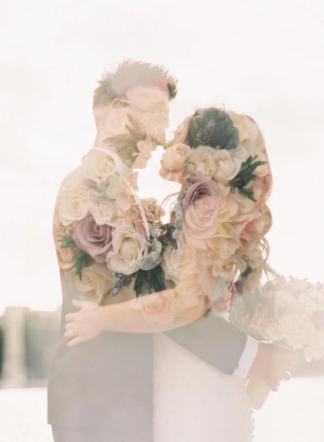 Romantic Double Exposure Wedding Photography