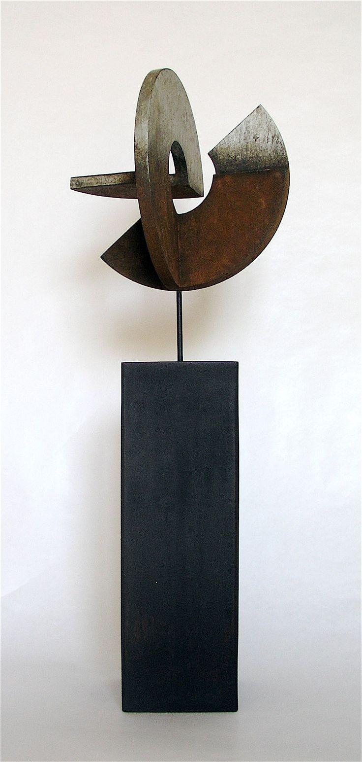 "RAMÓN URBÁN, E55 ""SECRETO ARTIFICIO XVII"" Técnica mixta madera/hierro, 58x20 cm. 2013."