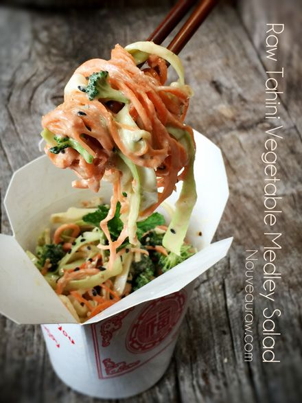 Tahini Vegetable Medley Salad