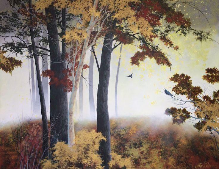 """Autumn Mist"" by Cheryl Petersen www.tuskgallery.com.au"