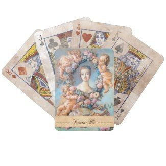 Madame de Pompadour François Boucher rococo lady Bicycle Poker Deck #madame #pompadour #pastel #portrait #boucher #Paris #France #classic #art #custom #gift #lady #woman #girl