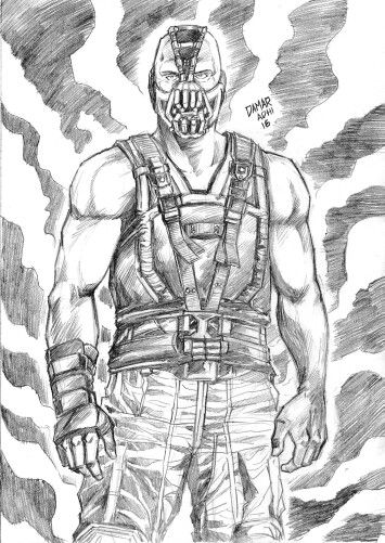 #darkknight #pencil #artwork #DC #comic #fanart #Bane