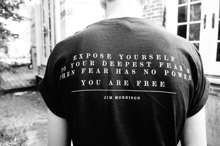 jim morrison quote Do Something Every Day that Scares the HELL out of you. It's good for you.