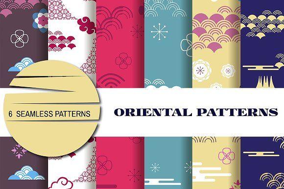 Oriental patterns by TATIANA_GERICH on @creativemarket