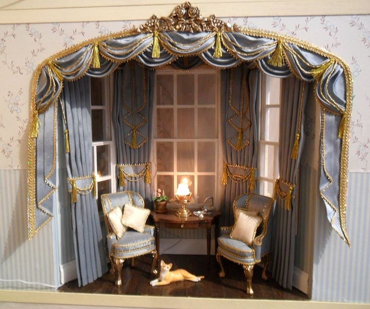 107 Best Images About Dollhouse-Miniature-Curtains On
