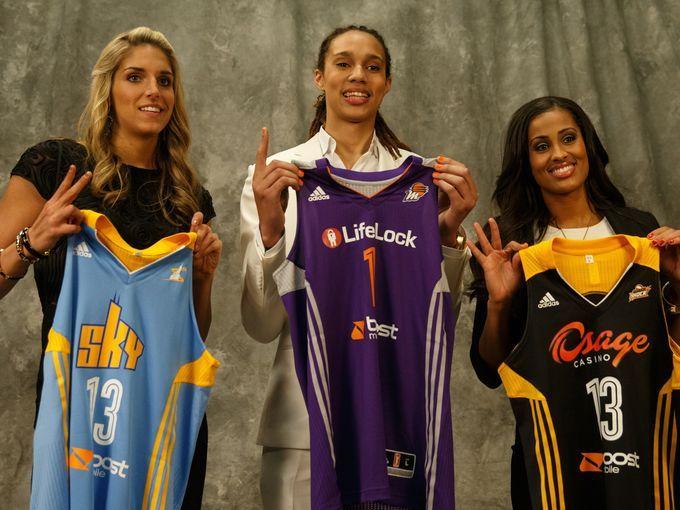 elena delle donne #2 draft pick, Brittney griner #1 draft pick and skylar diggings #3 draft pick WNBA 2013