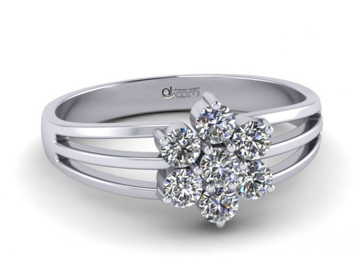 Inel de logodna ATCOM Lux cu diamante ALEXEI aur alb