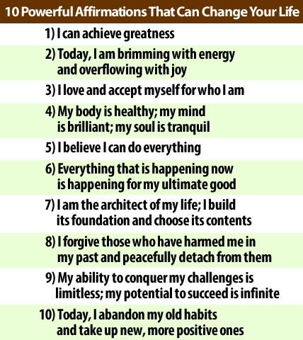10 Powerful Affirmations That Can Change Your Life
