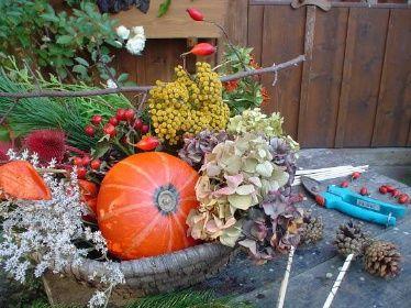 podzimní truhlíky na okna
