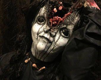 """Creepy Halloween Prop """"Toothfairy"""" (split head)"""