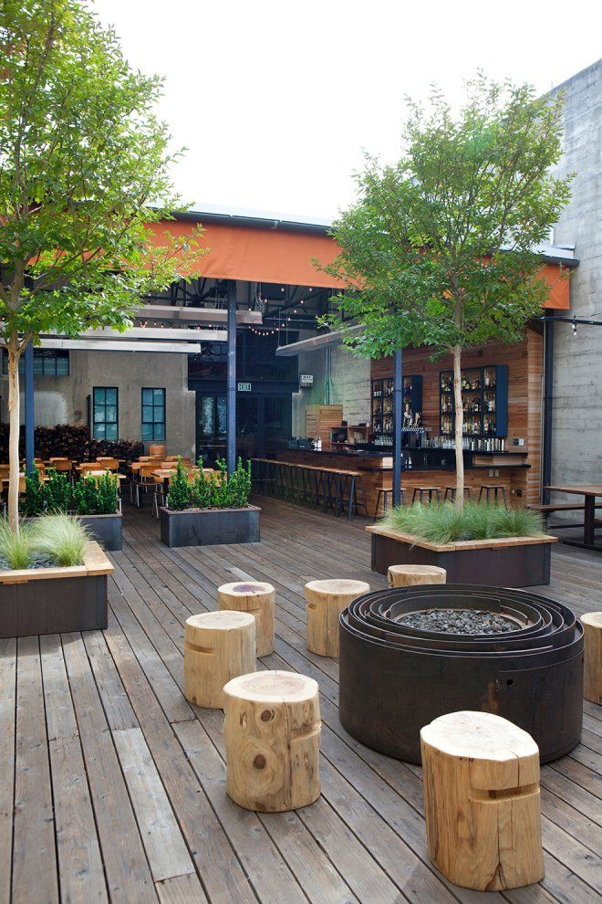 Pictures - Comal Restaurant - Architizer, outdoor firepit, fire pit, deck, eatery, raised bed gardening, outdoor seating