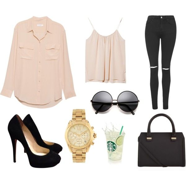 BASICALY NUDE  featuring Equipment, OTTE, Topshop, Jimmy Choo, Victoria Beckham, Michael Kors and BASICALLYNUDE    http://danicaibanez.polyvore.com/basicaly_nude/set?.embedder=11747886&.src=share_html&.svc=pinterest&id=155613341