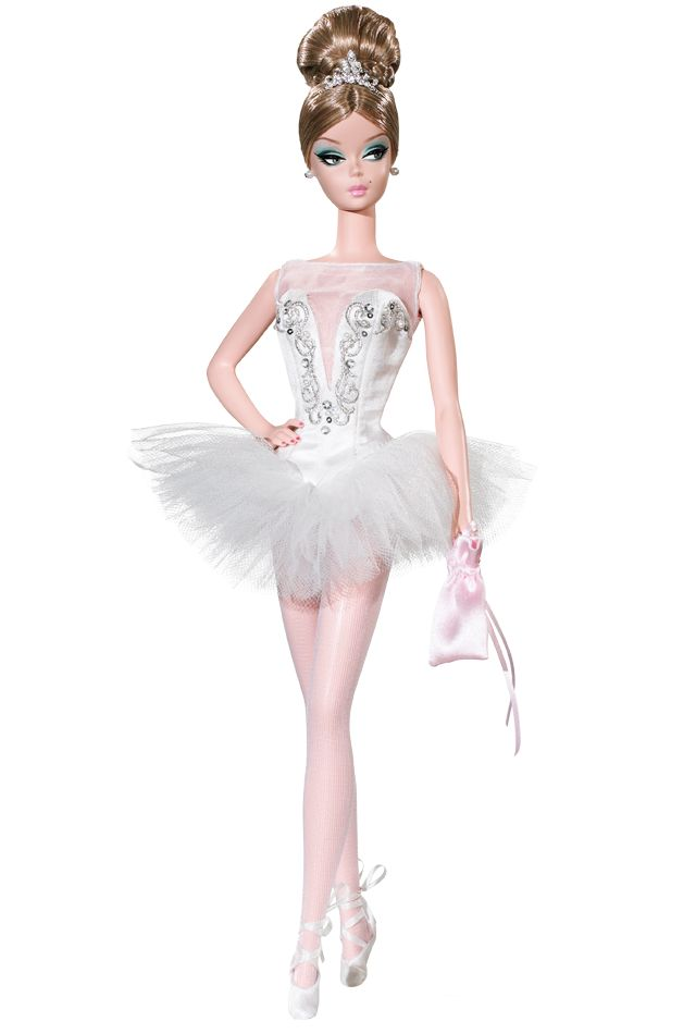 ~ Prima Ballerina™ Barbie® Doll ~   Brava! This diva of dance is perfectly en pointe in the magical world of the ballet! A tour de force of romantic design, Prima Ballerina™ Barbie® doll draws inspiration from a 1961 Barbie® fashion, reinvented today by Robert Best in celebration of Barbie® doll's 50th anniversary!
