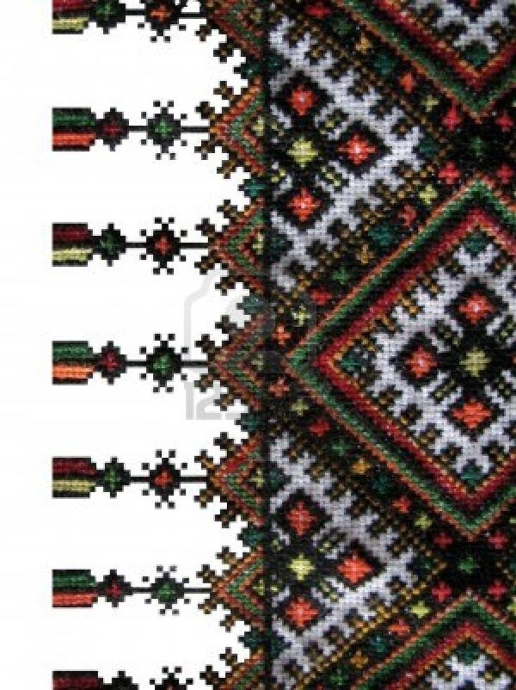 the boundary of the traditional Ukrainian cross-stitch Stock Photo - 12407318