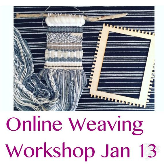 Live online weaving workshop on January 13 from 11am-2pm (eastern time). New year, new you & new hobbies. :) When you buy this workshop you will receive a full weaving kit, all the materials to make the wall hanging pictured above and your spot will be reserved for the online workshop.