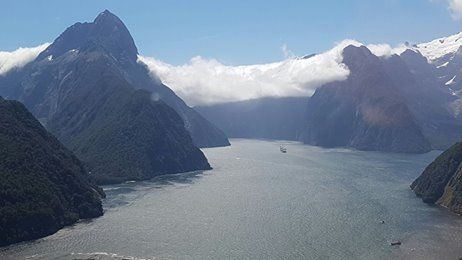 Flying through Milford Sound! #nzmustdo