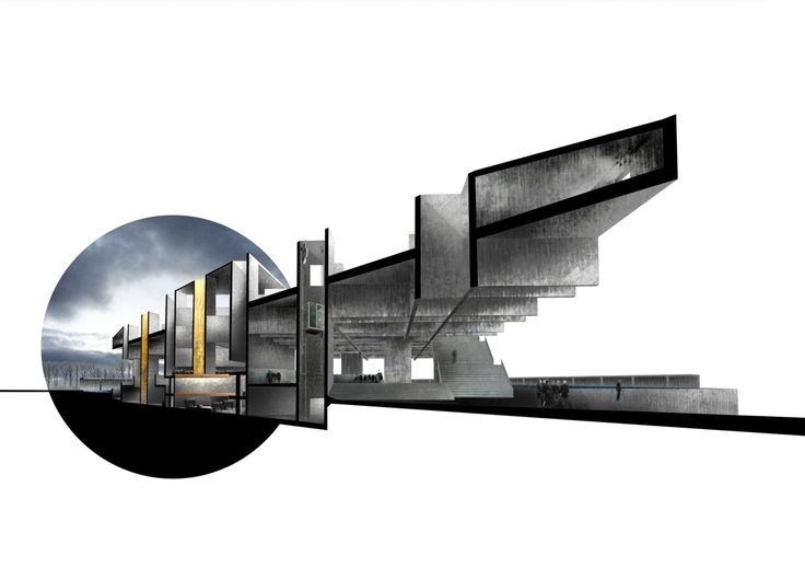 archisketchbook - architecture-sketchbook, a pool of architecture drawings, models and ideas - donnchadhagallarch: Perspective Section ...