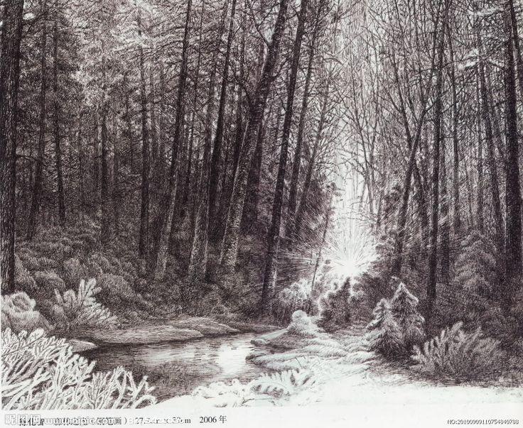 dibujos hechos a lapiz de paisajes - Buscar con Google