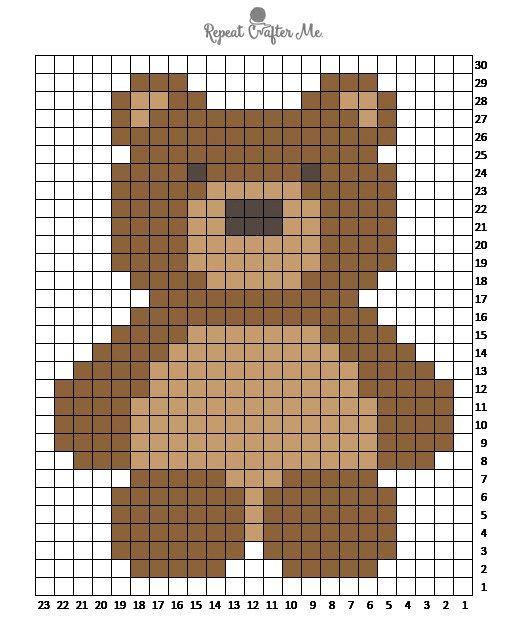 дизайнеры картинки по клеточкам медвежонок маленький певицей