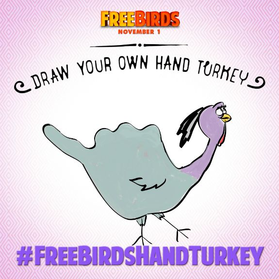 FREE BIRDS Hand Turkey Drawing & Giveaway | Let's Explore
