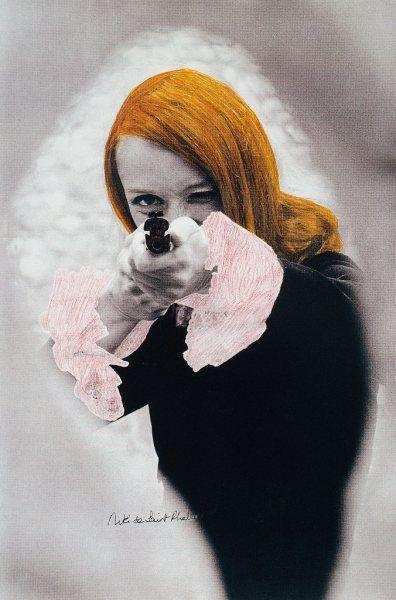 Niki de Saint Phalle in Daddy. Most beautiful woman to ever make art with a shotgun: Niki de Saint Phalle, fashion model, painter, sculptor, wife of meta-matic sculptor Jean Tinguely