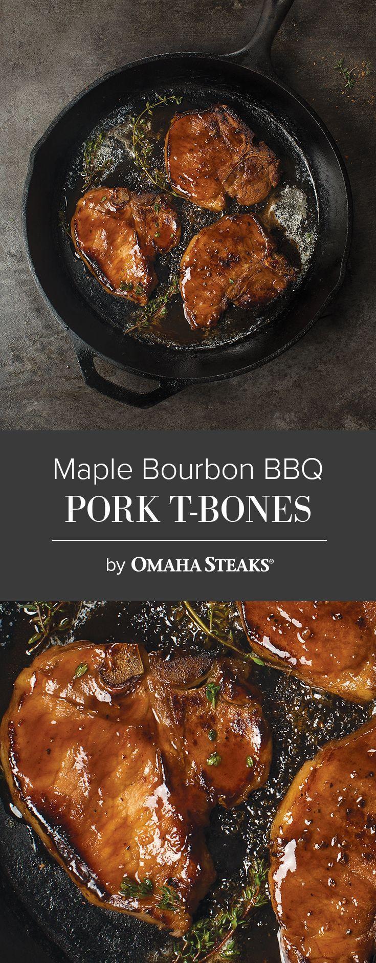 Maple Bourbon Pork T-Bones