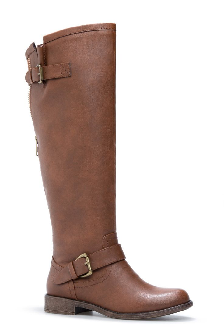 Inspired by riding boots, this style is great for tucking in your boot-cut denim or mixing looks by adding a feminine dress to a rugged style.