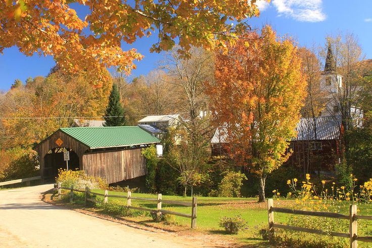 Waterville Vermont Village Covered Bridge Photographs