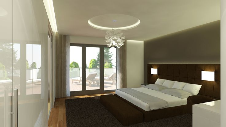 Hálószoba - látványterv / Bedroom - architectural visualization