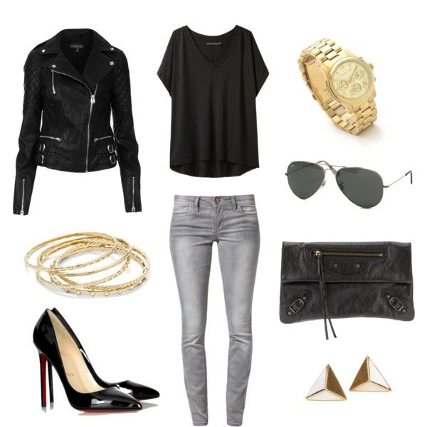 outfit2 by elenalembinen, via Polyvore live the jacket!
