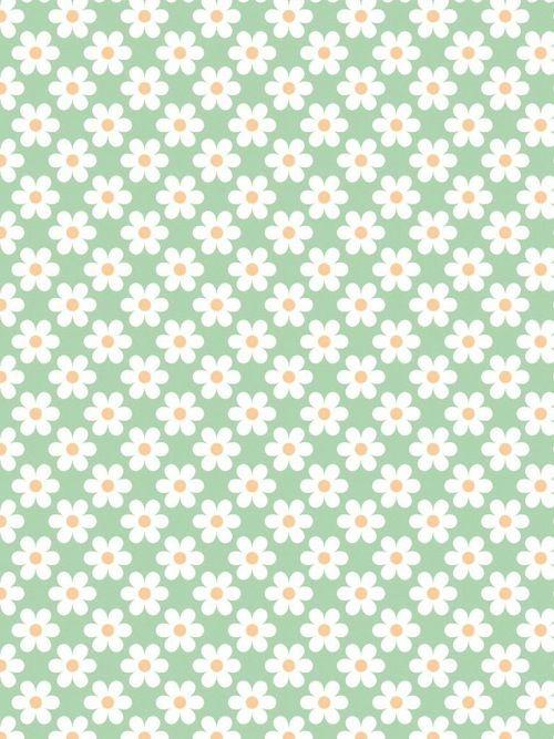 Flower floral mint green background wallpaper