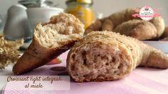 Croissant light integrali al miele (124 calorie l'uno)