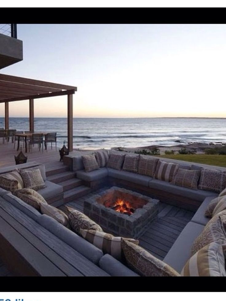 Sunken fire pit seating area - love it!