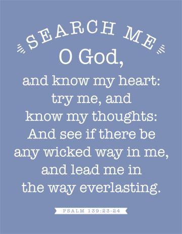 Custom Search Me, O God Christian Canvas Wall Art | Psalm 139:23-23 KJV