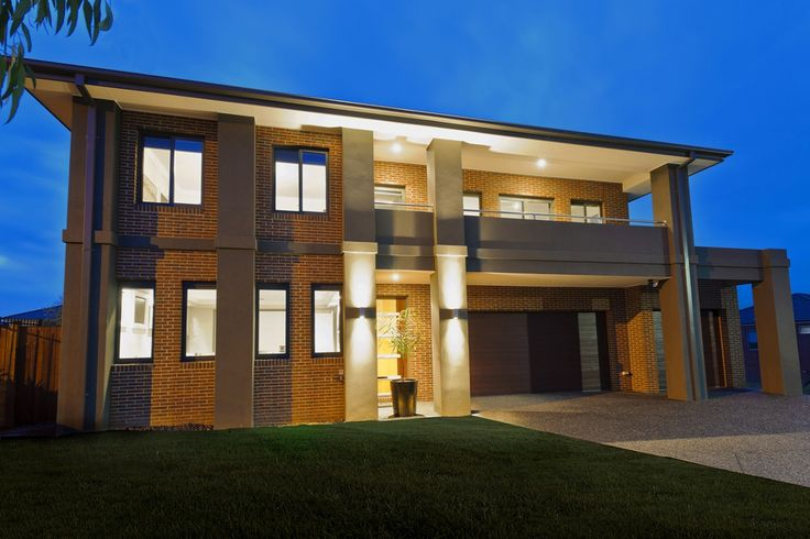 The Range - Custom Designed by Busby Homes. Façade includes slim cut bricks and render.