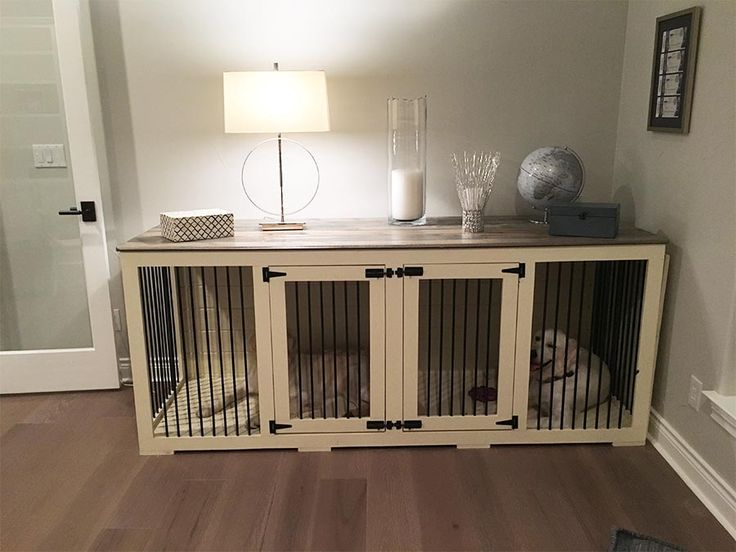 Double Doggie Den - an indoor rustic dog kennel for 2 dogs