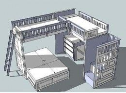 Triple Loft Bed Plan = sleep over