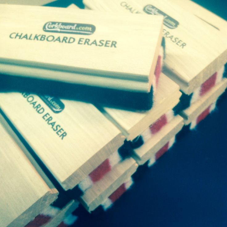 here's a stack of our chalk board erasers...we ship one of these with every chalk board order!