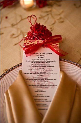 オシャレなコーディネートがいい!赤がテーマカラーの結婚式にしたい♡赤いメニュー表のまとめ一覧です♡
