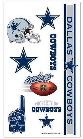 $14.99--Dallas Cowboys Temporary Tattoos