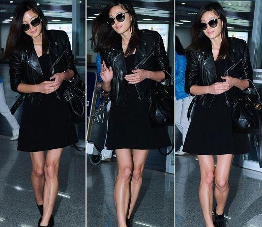 Jun Ju Hyun's All Black Fashion Kim Hae Airport