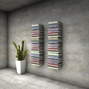 Unsichtbares Bücherregal 2 x 3er-Set klein in weiss für ca. 200 cm Bücherstapel: Amazon.de: Küche & Haushalt