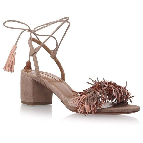Buy Aquazzura Beige Leather Solid Sandals online in India at best price.  Aquazzura Wild Thing Sandals 50 available to buy at Harrods. Shop women s  designer ...