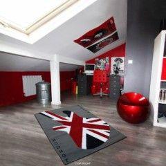 tapis drapeau anglais original rectangulaire protection sol avec guitare et drapeau anglais pour jeune pas cher original.jpg, oct. 2013