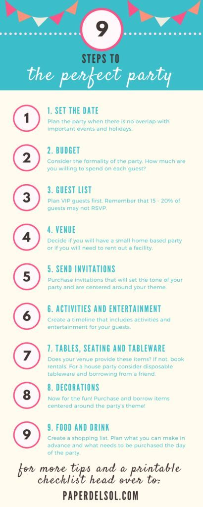 9 Steps to Planning the Perfect Party and Party Planning Checklist