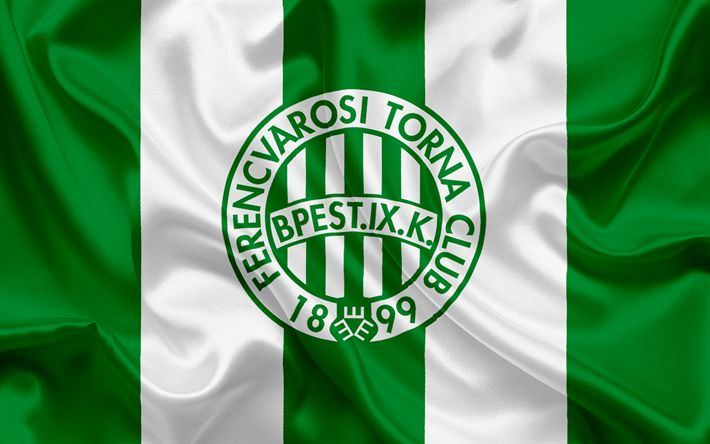 Download wallpapers Ferencvarosi TC, Hungarian football club, emblem, Hungary, Ferencvaros, Budapest, football