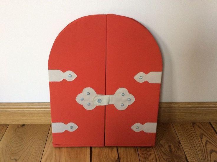 Ikea Boys Kids Childs Medieval Knight Storage Castle Door Bedroom Mirror Red In Home Furniture
