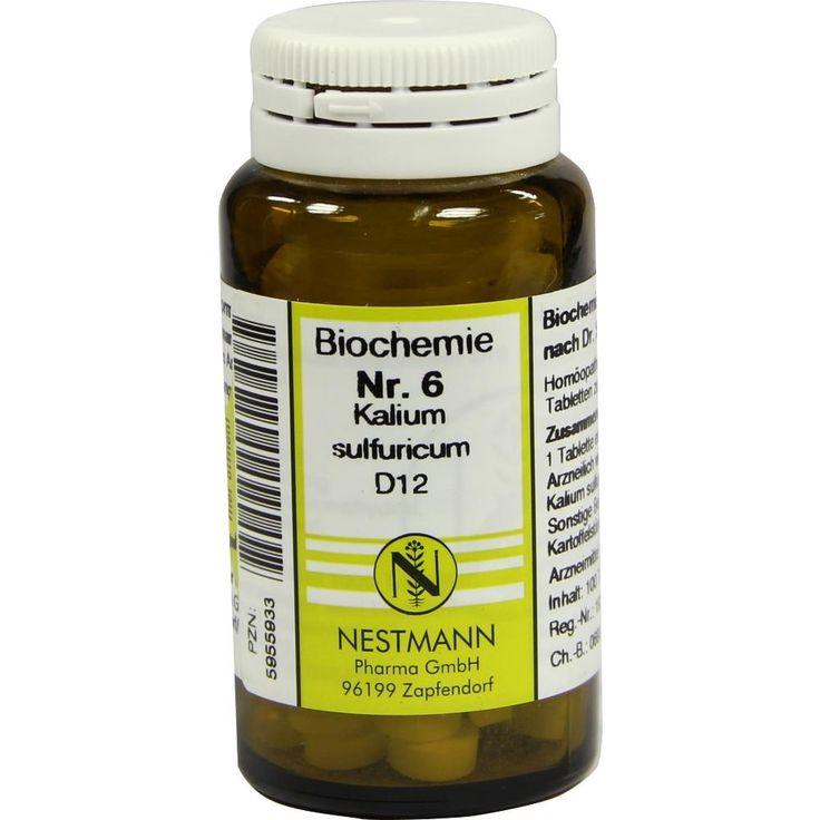 BIOCHEMIE 6 Kalium sulfuricum D 12 Tabletten:   Packungsinhalt: 100 St Tabletten PZN: 05955933 Hersteller: NESTMANN Pharma GmbH Preis:…