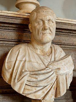 Gaius Iulius Verus Maximinus Thrax  римский император с 235 по 238 г, I «солдатский император». Выделялся огромным ростом и физической силой. не только управлял своими воинами в силу своей доблести, но и внушал им величайшую любовь к себе путём раздачи наград. Но обладая такими достоинствами, он в то же время был так жесток, что одни называли его Циклопом, иные — Скироном, а многие — Тифоном. был родом из фракийского посёлка; отец Микка из  готов, а мать Абаба из племени