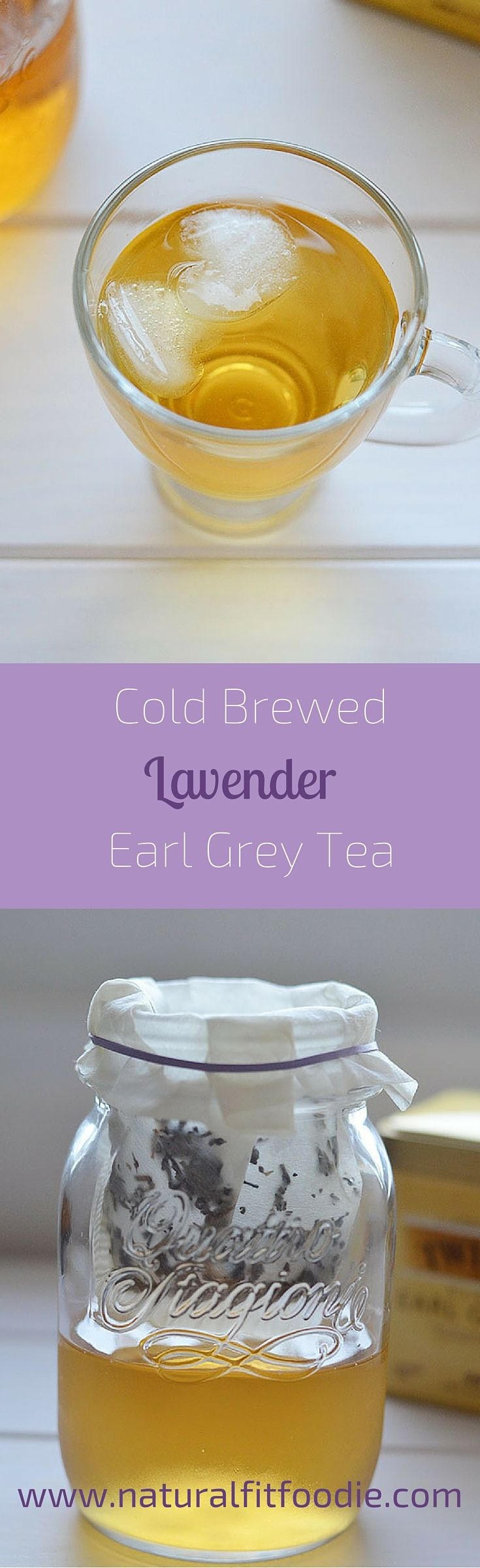 If you're looking for a low calorie drink with a little more oomph than plain water, definitely give this Cold Brewed Lavender Earl Grey tea a try!